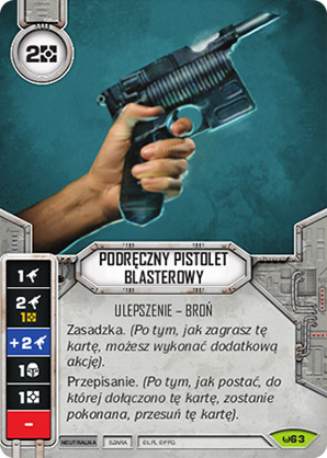 Podręczny pistolet blasterowy